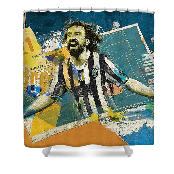Andrea Pirlo - B Shower Curtain