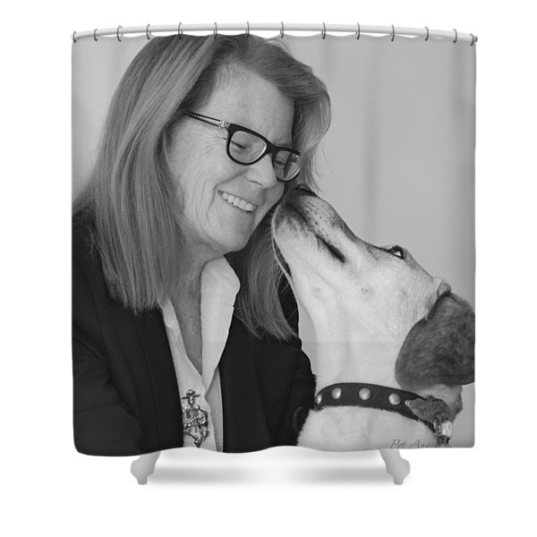 Andrew And Andree Bw Shower Curtain