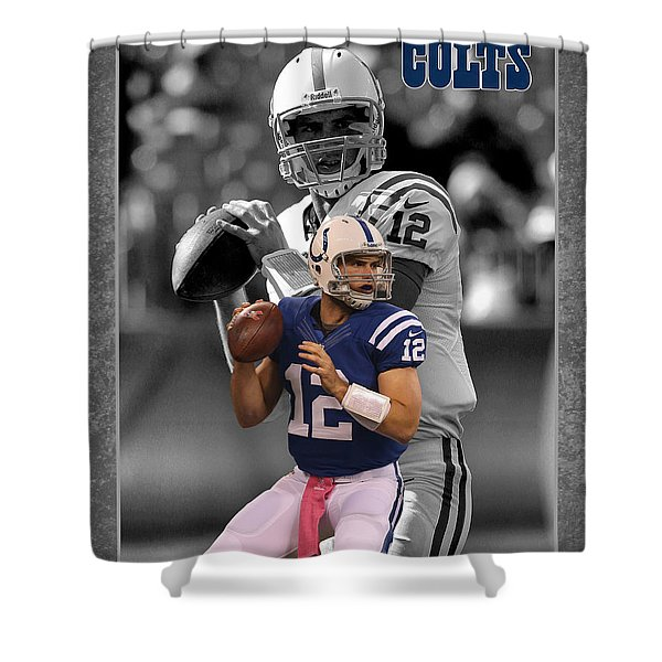 Andrew Luck Colts Shower Curtain