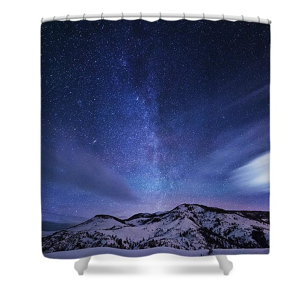 Andromeda Rising Shower Curtain