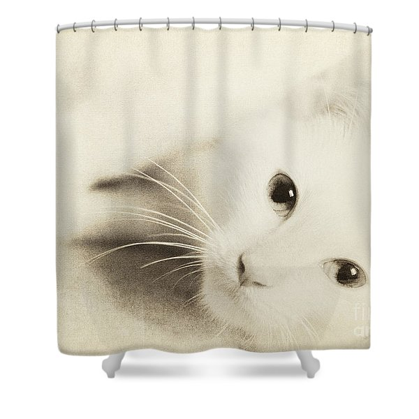 Angel Baby  Shower Curtain