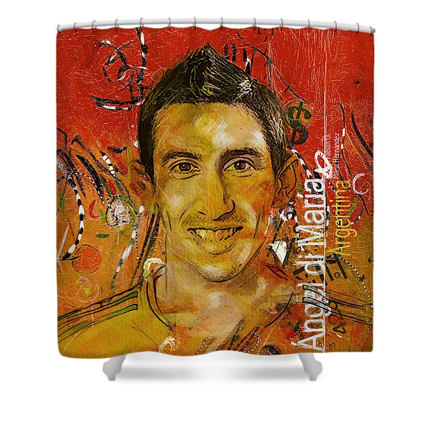 Angel Di Maria Shower Curtain