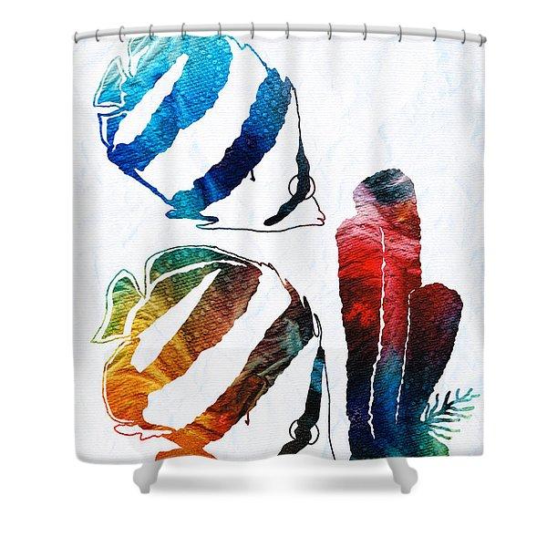 Angel Fish Art - Little Angels 2 - By Sharon Cummings  Shower Curtain