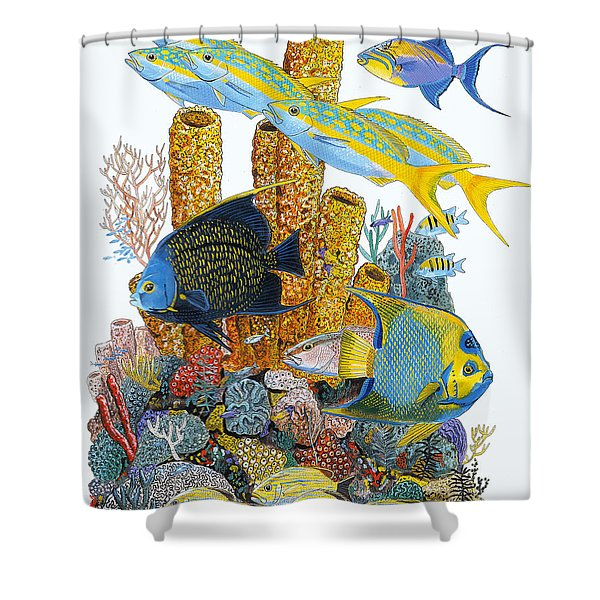 Angel Fish Reef Shower Curtain