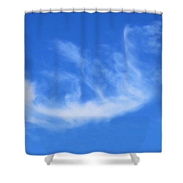 Angel In Flight Cloud Shower Curtain