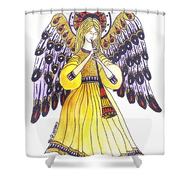 Angel In Horns Section Shower Curtain