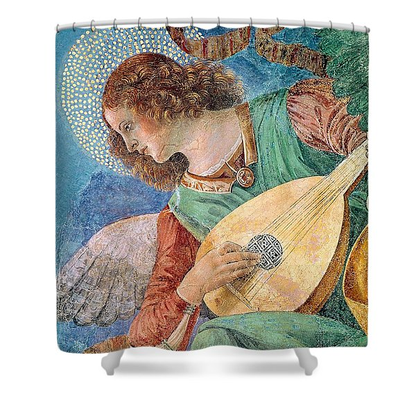 Angel Musician Shower Curtain