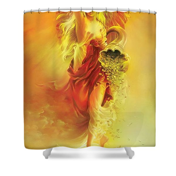 Angel Of Abundance - Fortuna Shower Curtain