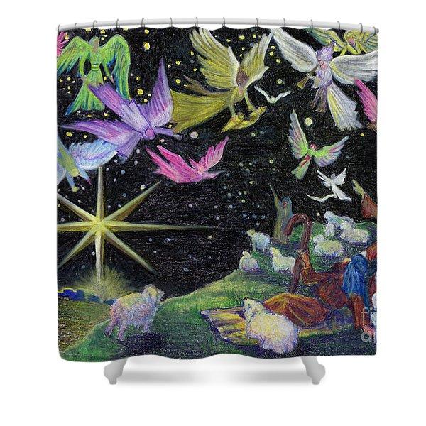 Angel Skies Shower Curtain