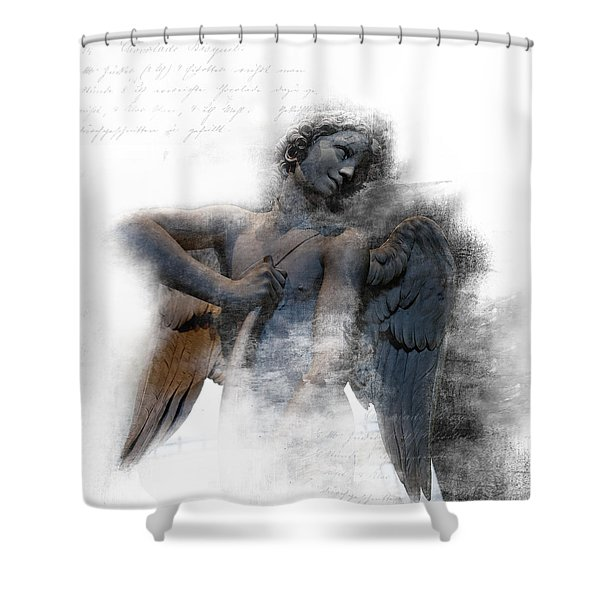 Angel Warrior Shower Curtain