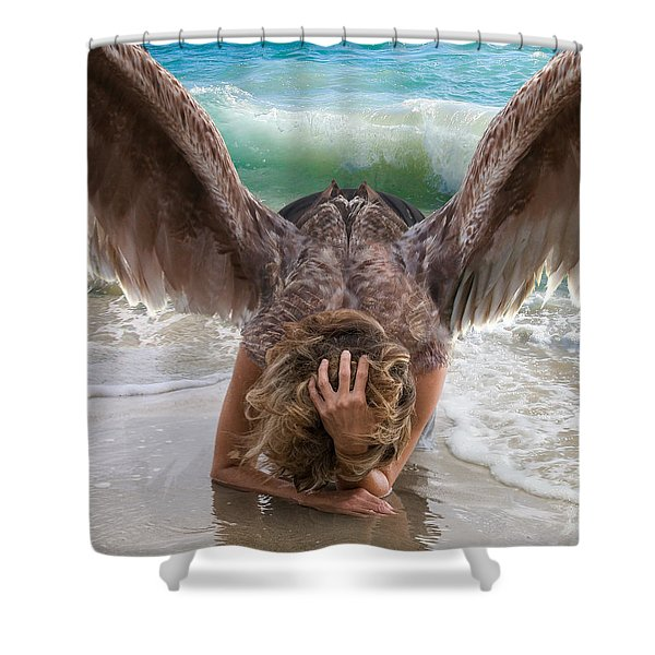 Angels- Be A Light To Those In Darkness Shower Curtain
