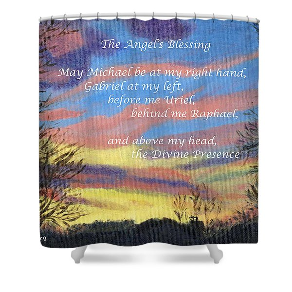 Angel's Blessing Shower Curtain