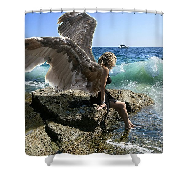 Angels- I'm Watching Over You Shower Curtain
