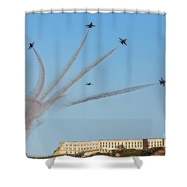 Angels Over Alcatraz Shower Curtain