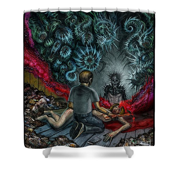 Anger Only Feeds The Monster Inside You Shower Curtain