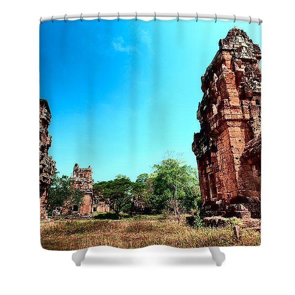 Angkor Wat Ruins Shower Curtain