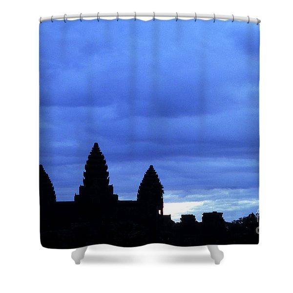 Angkor Wat Sunrise 01 Shower Curtain