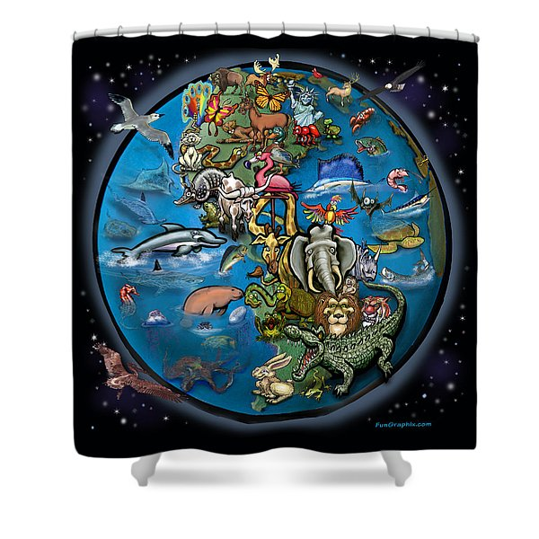 Animal Planet Shower Curtain