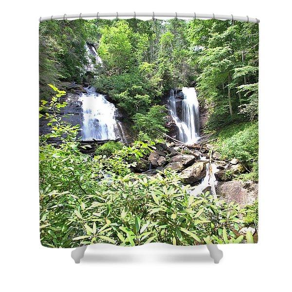 Anna Ruby Falls - Georgia - 1 Shower Curtain