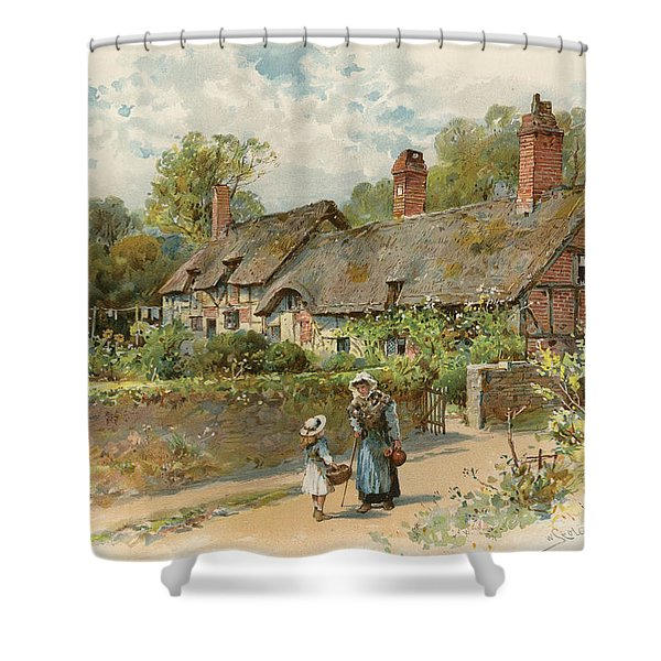 Anne Hathaway's Cottage At Shottery Shower Curtain