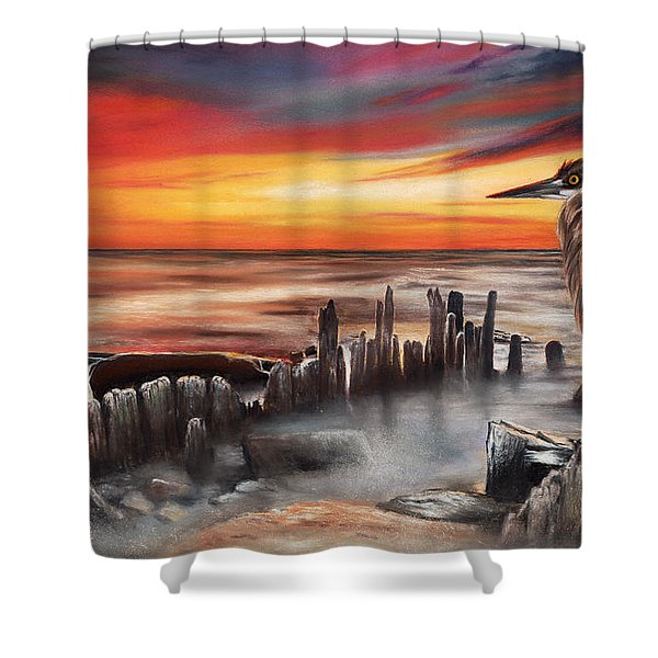 Another Bloody Sunset Shower Curtain