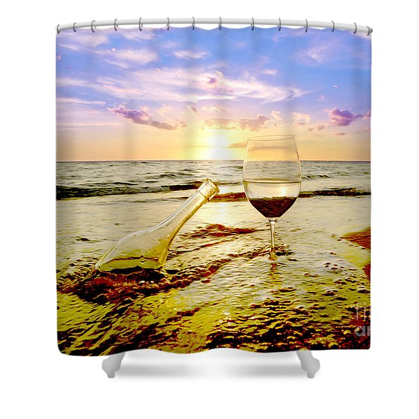Another Day In Paradise  Shower Curtain