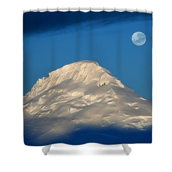Antarctic Moon Shower Curtain