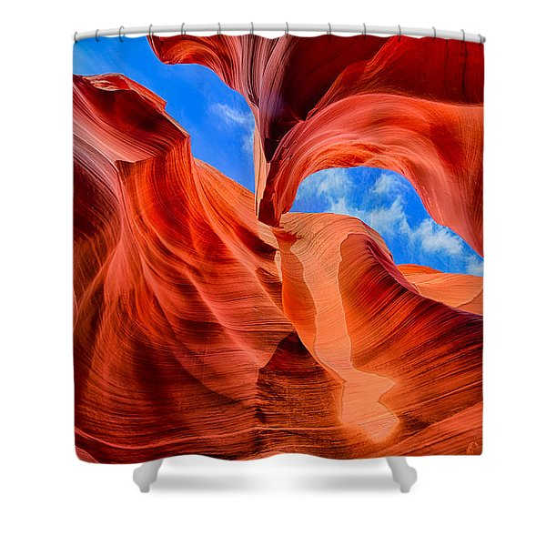 Antelope Canyon Walls Shower Curtain
