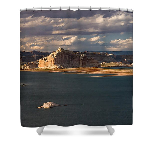 Antelope Island At Sunset Shower Curtain