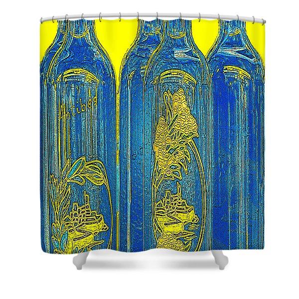 Antibes Blue Bottles Shower Curtain