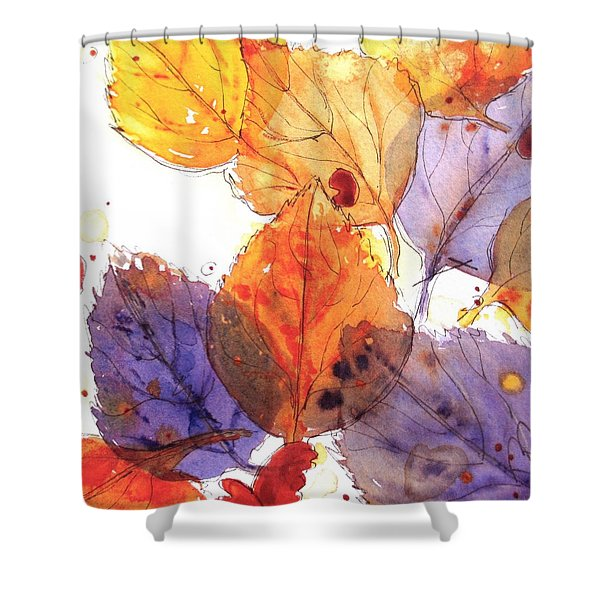 Anticipating Autumn Shower Curtain