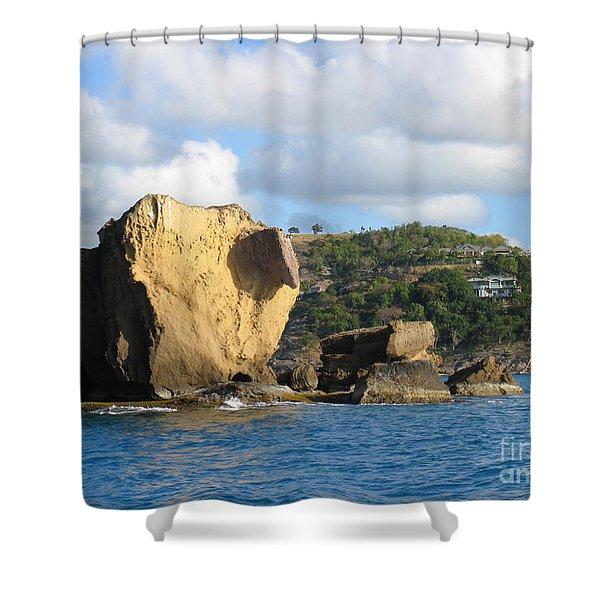 Antigua - Aliens Shower Curtain