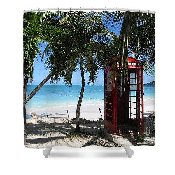 Antigua - Phone Booth Shower Curtain