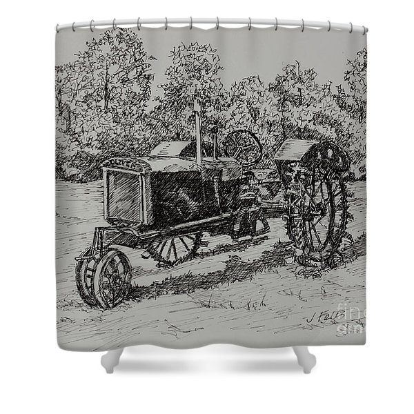 Antigue Tractor Shower Curtain