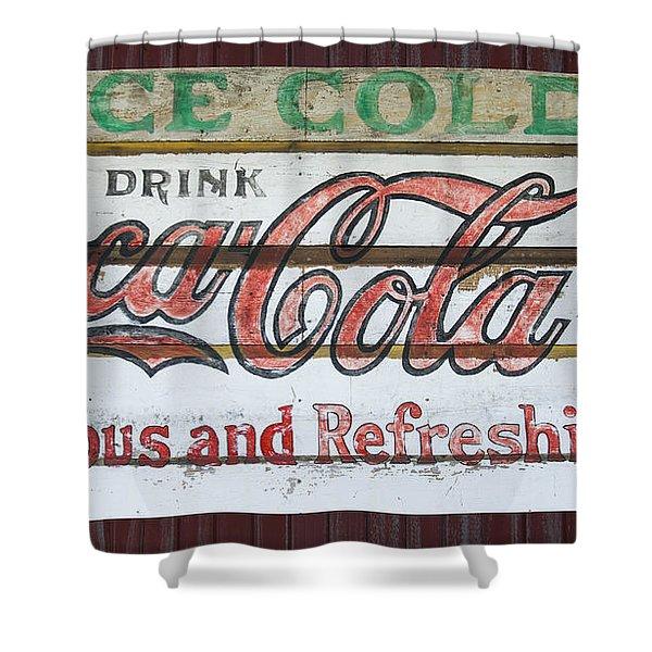 Antique Coca Cola Sign  Shower Curtain
