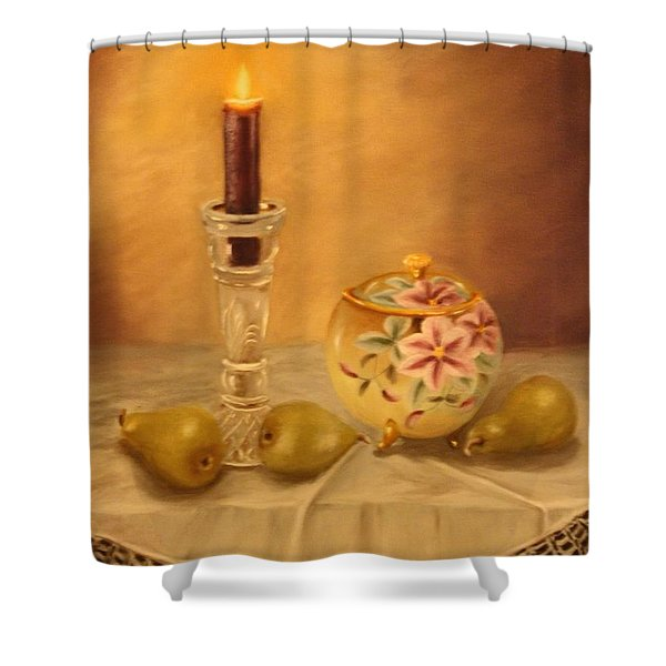 Antique Nippon In Candle Light Shower Curtain
