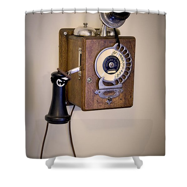 Shower Curtain featuring the photograph Antique Telephone by David Millenheft