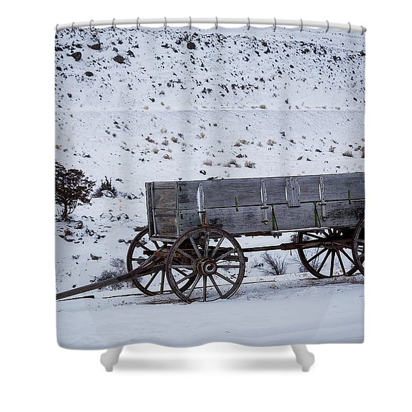 Antique Wagon Shower Curtain