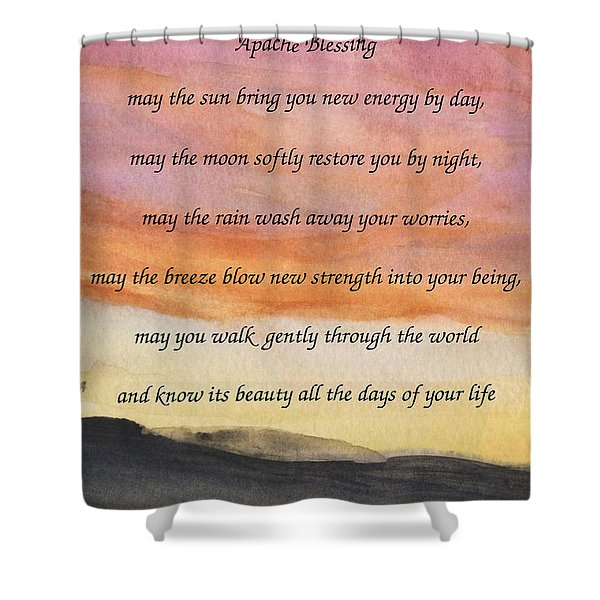 Apache Blessing With Sunset Shower Curtain