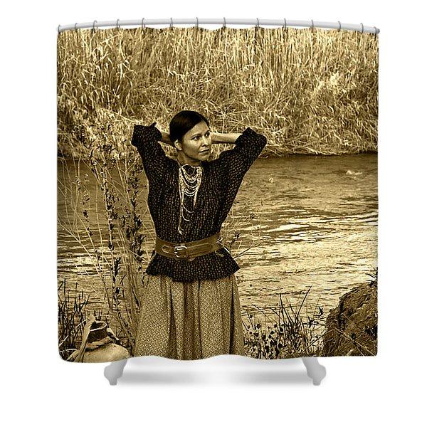 Apache River Maiden Shower Curtain