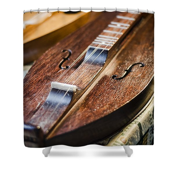 Appalachian Dulcimer Shower Curtain