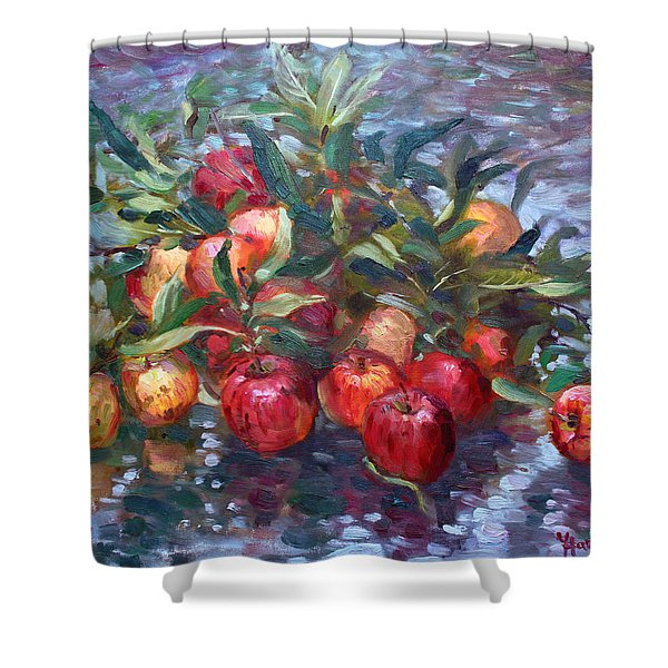 Apple Harvest At Violas Garden Shower Curtain