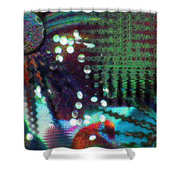 Aqua Dish Shower Curtain
