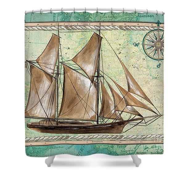 Aqua Maritime 2 Shower Curtain