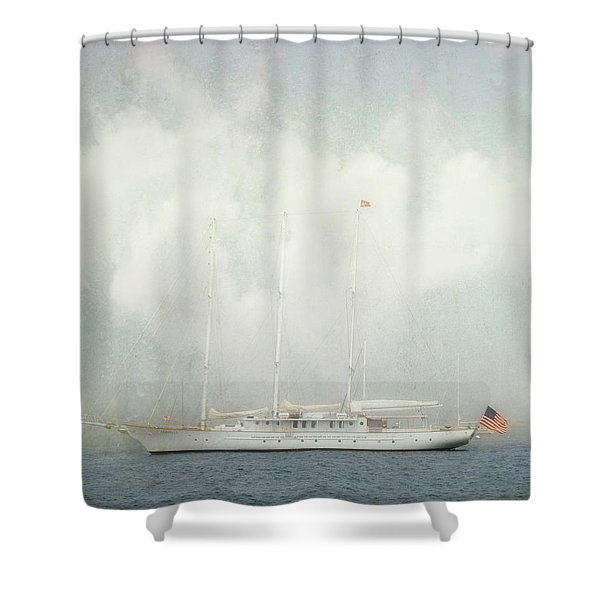 Arabella On Newport Harbor Shower Curtain