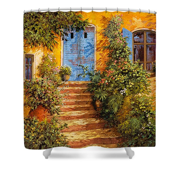 Arancio Caldo Shower Curtain