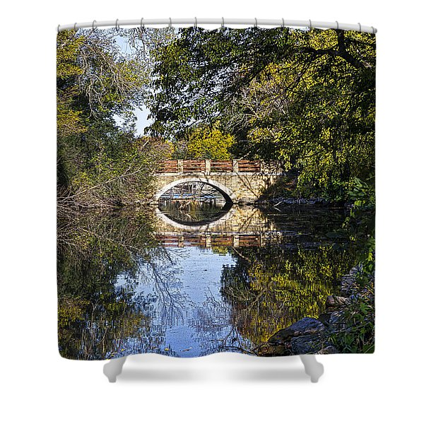 Arboretum Drive Bridge - Madison - Wisconsin Shower Curtain