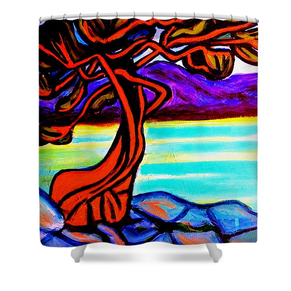 Arbutus Tree 1 Shower Curtain