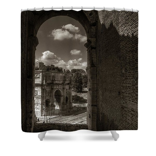 Arch Of Constantine From The Colosseum Shower Curtain