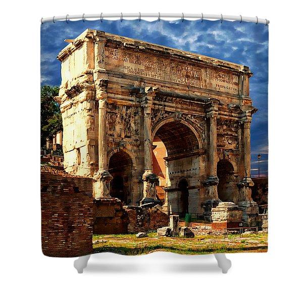 Arch Of Septimius Severus Shower Curtain